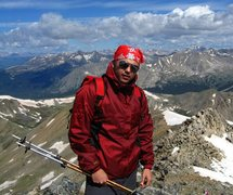 Rock Climbing Photo: near summit of mt. yale
