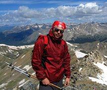 Rock Climbing Photo: near summit of mt. yale