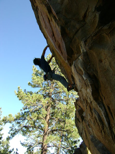 Oliver Farzin-Nia working the moves on the new route, Crematorium.