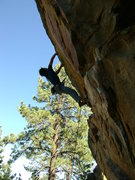 Rock Climbing Photo: Oliver Farzin-Nia working the moves on the new rou...