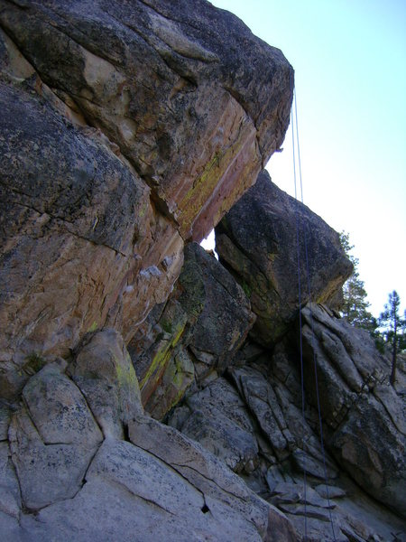 Rock Climbing Photo: A little overhung?