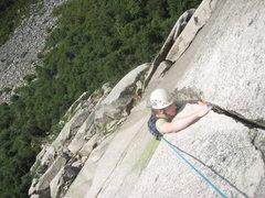 Rock Climbing Photo: Roof crux.