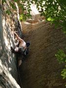 Rock Climbing Photo: Climbing up Calypso III on a hot august day