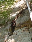 Rock Climbing Photo: Ger running up snake 2010-08-29