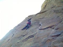 Rock Climbing Photo: Bastille Crack pitch 1.