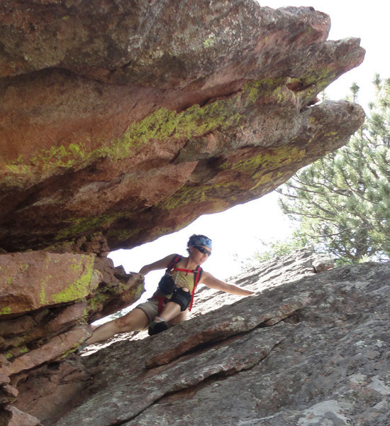 Rock Climbing Photo: Descent of Front Porch via NE ridge