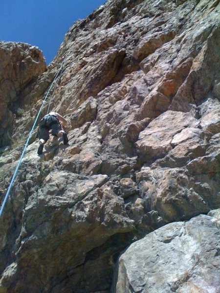 Rock Climbing Photo: About halfway up Holy Moroni