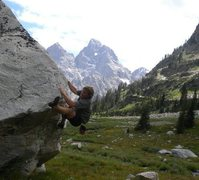Rock Climbing Photo: Random Boulder up Cascade Canyon, GTNP WY