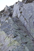 Rock Climbing Photo: The route. Helon is rapping from the first belay -...