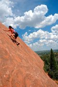 Rock Climbing Photo: Me on a slab climb in Red Rock Canyon Open Space, ...