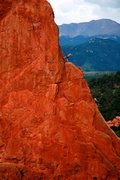 Rock Climbing Photo: Me leading Montezuma's Tower (5.7), Garden of the ...