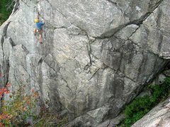 Rock Climbing Photo: Jamie McNeill on Rocinha (5.10c).  Photo by Jay Ha...