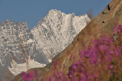 Rock Climbing Photo: Lauteraarhorn in the back