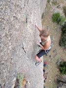 Rock Climbing Photo: Larissa on Lead, YEAH GIRL!!