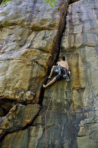 Rock Climbing Photo: China Crisis, 5.11a sport.