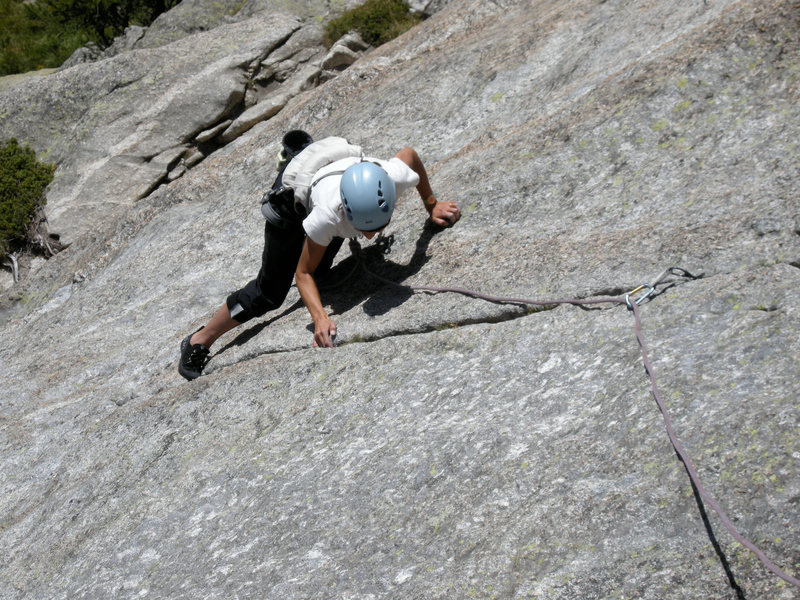 Rock Climbing Photo: The short finger crack in pitch 3