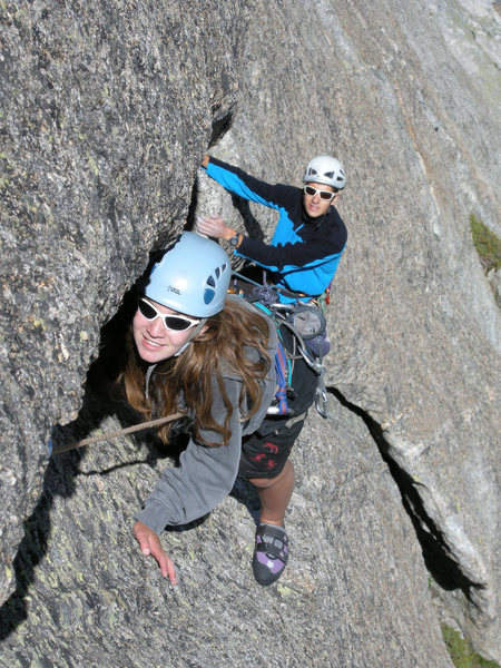 Cécile and Claudio following in pitch 4