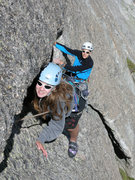 Rock Climbing Photo: Cécile and Claudio following in pitch 4