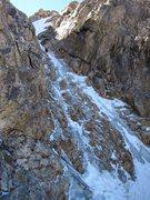 Rock Climbing Photo: Keen high on pitch 1.