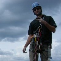 Rock Climbing Photo: on top of the spearhead 1000 ft trad.