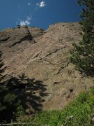Rock Climbing Photo: Base of East Face Center