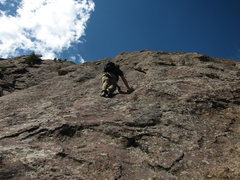 Rock Climbing Photo: Features of the middle part of route