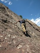 Rock Climbing Photo: Near where East Face Center and Tip Toe merge