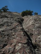 Rock Climbing Photo: Nearing the top of the route