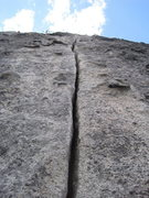 Rock Climbing Photo: Looking up the perfect hand crack on the 5th pitch...
