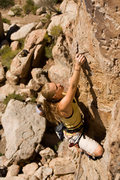 Rock Climbing Photo: Marilyn getting started on her first outdoor lead ...