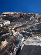 Rock Climbing Photo: Keen Butterworth ops for the harder direct option ...