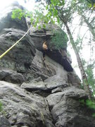 Rock Climbing Photo: Vinny at the crux jam.