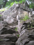 Rock Climbing Photo: Ascend edges and ledges to the left with pro appea...