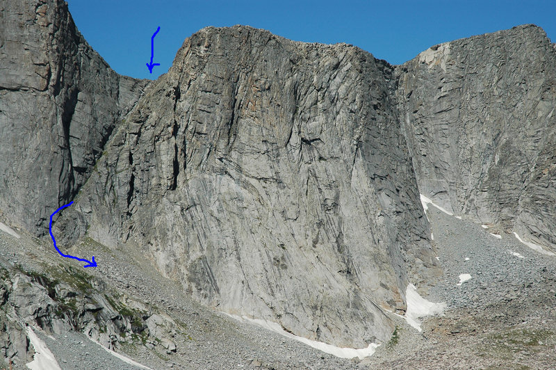 Rock Climbing Photo: Here is a super easy, quick descent from both the ...