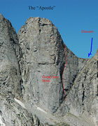 """Rock Climbing Photo: Photo of the """"Apostle"""" formation with lo..."""