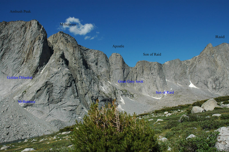 Overview of the route and formation locations in the upper East Fork Valley