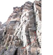 Rock Climbing Photo: Overview of pitch 1.