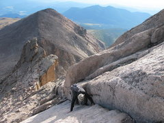Rock Climbing Photo: solo'ing the first section up to the base of the c...