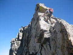 Rock Climbing Photo: Scrambling on the White Knight.