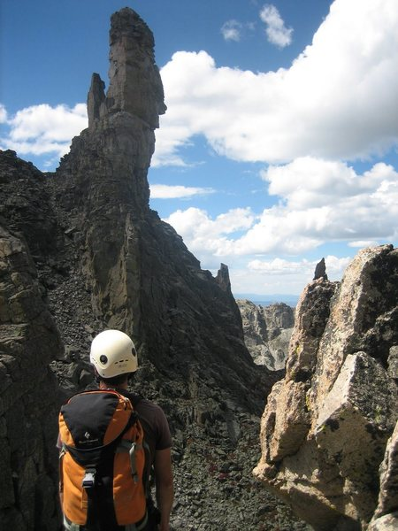 Rock Climbing Photo: The Rook, from the low point on the ridge between ...
