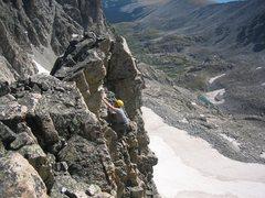 Rock Climbing Photo: Scrambling on The Queen.