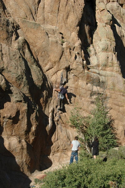 Rock Climbing Photo: From here, the next couple of moves to get to the ...
