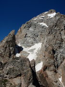Rock Climbing Photo: Teepee Pillar and the Grand as viewed from the sum...