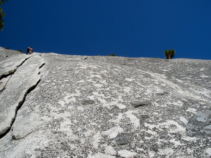 Heading up to the beautiful fingers on Serenity Crack, Yosemite.  Rad climb.