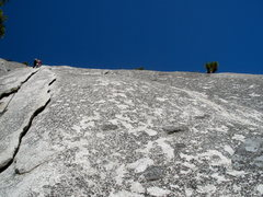 Rock Climbing Photo: Heading up to the beautiful fingers on Serenity Cr...