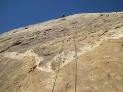 Rock Climbing Photo: Higher on the route