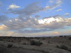 Rock Climbing Photo: Evening sky from camp