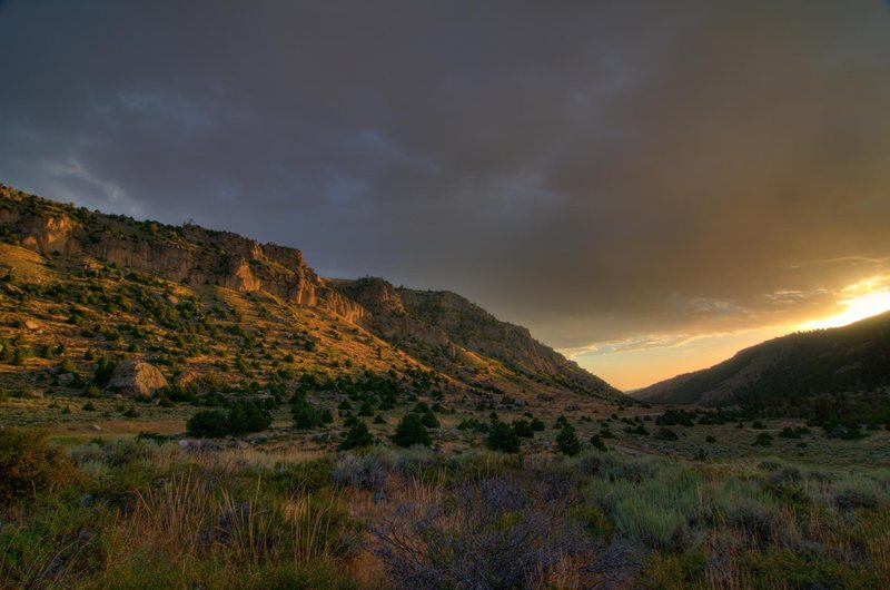 Rock Climbing Photo: Sunrise in Sinks Canyon.
