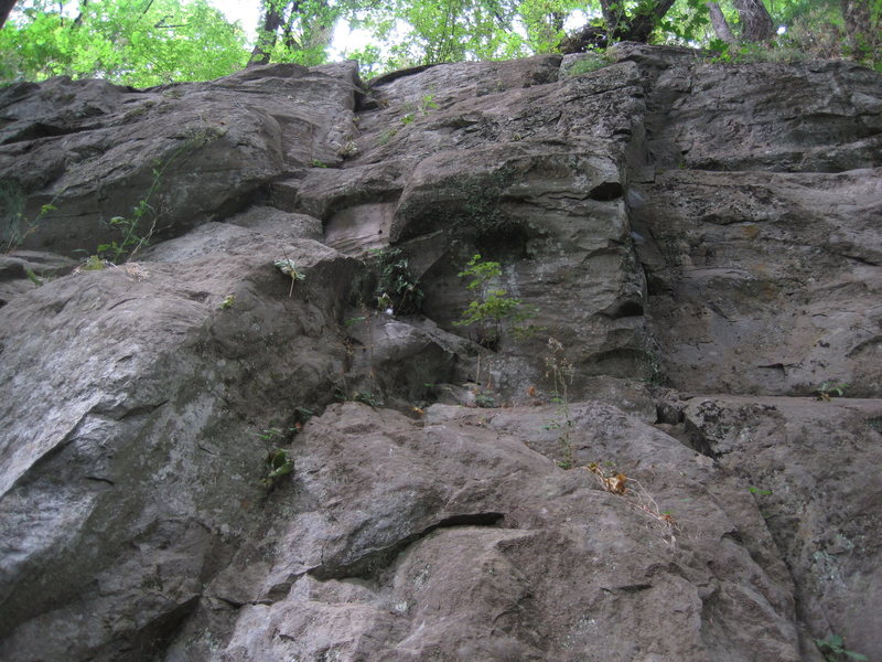 The broken crack to the left is Kinetic Flow.