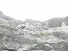 Rock Climbing Photo: Looking up pitch 3. watch the rope drag on this pi...